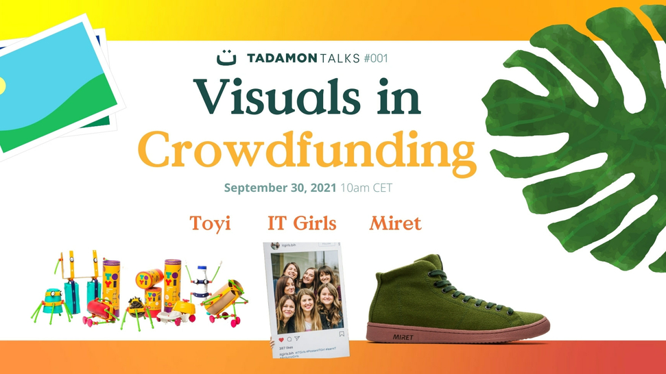 Tadamon Talks #01: How to use visual communication effectively in crowdfunding campaigns